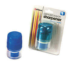 Officemate Twin Pencil/Crayon Sharpener with Cap Blue 30220