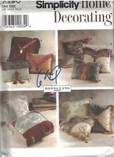 7196 Vintage Simplicity Pattern Sewing Home Decor Pillows Envelope Tasseled Fan
