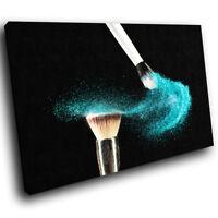 E050 Blue Makeup Brush Fashion Modern Canvas Wall Art Large Picture Prints