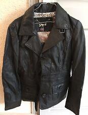 Veste Femme cuir noir Schott Modèle Neuve avec étiquettes Taille S
