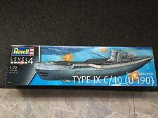 +++ revell sous-marin allemand type IX c/40 (u190) 1:72 05133