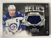 2018 - 19 UD NHL Black Diamond Blake Wheeler Relics Game Used Jersey Jets