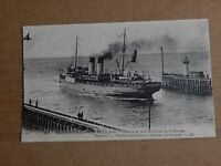 Postcard shipping The Folkestone Boat Entering The Harbour unposted