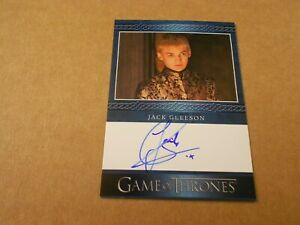 JACK GLEESON JOFFREY GAME OF THRONES SEASON 8 BLUE AUTO AUTOGRAPH VERY LIMITED