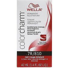 Wella Color Charm Liquid Haircolor 7r/810 Red, 1.4 oz (Pack of 2)