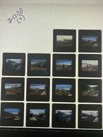 Lot of 14 Metro North Railroad Slides NYC New York Connecticut 1984-1990