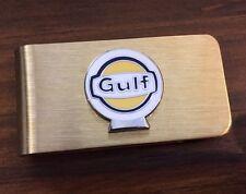 Gulf Gas Station & Oil for Automobiles Brass Vintage Money Clip Holder