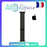 Soft Strap Nylon Black Sport Loop Apple Watch  Series 5 4 3 2 1 (Dark Black, 40m