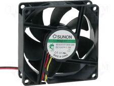 Sunon ventilateur 80x80x25mm me80251v1-g99 DC 12v 3200 u/min 33dba vapolager 3 torons