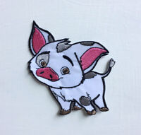 Pua Pig Cute Animal Art Badge Iron or sew on Embroidered Patch