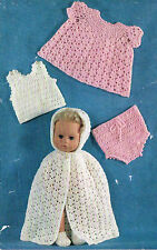 "11"" & 14""Baby Dolls clothes crochet pattern. Laminated copy. ( V Doll 40)"