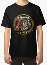 Indian Hendee V-Twin 1912 engine Vintage Motorcycle T-Shirt INISHED Productions