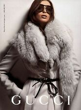 Gucci-Tom-Ford Fall/Winter 2004 Grey with Fox Fur Coat Size 40IT