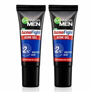[GARNIER] 2% Salicylic Acid Men Acno Fight Effective Acne Gel 2×10 ml