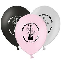 """Rock an Roll - 12"""" Printed Classic Selection Assorted Latex Balloons pack of 15"""