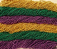 "600 Metallic 33"" Asst Colors Mardi Gras Beads Purple Green Gold"