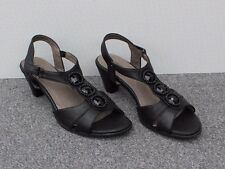 NEW Natures Own Black Jewelled Sandals Size 8