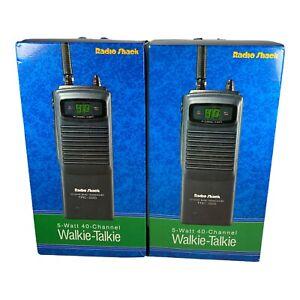 RADIO SHACK 5 WATT 40 CB CHANNEL WALKIE TALKIE TRC-225 New Open Box 2 Pairs
