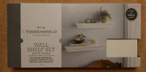 Threshold™ 2pc Traditional Shelf Set White NIB Brand New - SHIPS FAST!