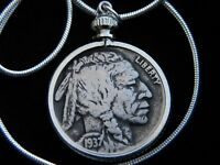 Necklace Buffalo Indian Nickel coin nice for men women  motorcycle biker
