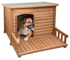 Hundehütte mit Terrasse 113 x 127 x 83 cm das Heim für deinen besten Freund