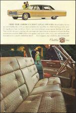 1966 Vintage ad for Cadillac`retro car photo interior view gold black   092717
