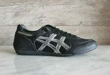 Asics Alpine Black Leather Athletic Sneakers Onitsuka Shoes US-7.5 New Trainers