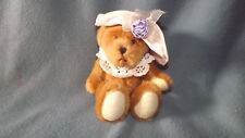 """Ganz 8"""" Jointed Bear with Hat & Crocheted Collar U1117B"""