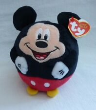 TY TOPOLINO 5-Inch TY Beanie Ballz Disney nel Regno Unito Calza Filler BABBO NATALE NUOVO CON ETICHETTA