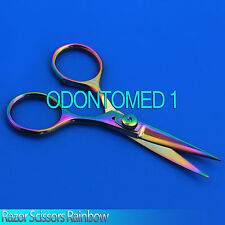 "Razor scissors 5"" Cvd Rainbow plasma coating extremely sharp fly tying,BTS-38"