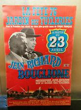 AFFICHE CIRQUE JEAN RICHARD & BOUGLIONE SPECTACLE 1976 HIPPODROME JEAN RICHARD