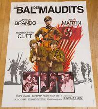 LE BAL DES MAUDITS Affiche cinéma 120x160 DMYTRYK, MARLON BRANDO, DEAN MARTIN