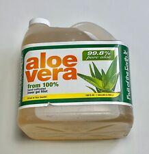 Aloe Vera 100% Hand Cultivated Inner Gel Fillet 99.8% Pure 128oz Bottle 1 Gallon