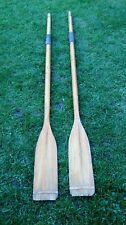 wooden rowing boat oars