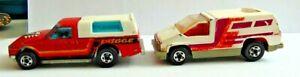 Hot Wheels Cars Lot Of 2 1979 Hi Raker Dodge Pick Up Truck & 1978 Beach Blaster