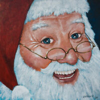Merry Santa by pollard Christmas Saint Nick 12x12 signed print santa claus