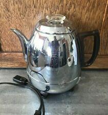 Vtg General Electric GE Pot Belly Percolator Coffee Maker Bakelite Chrome 33P30
