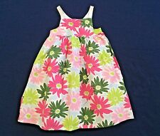 NWT GYMBOREE Spring Social Cotton Pink Sleeveless Daisy Dress Girls 4T Floral