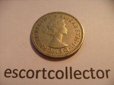 1956 Elizabeth II un chelín 1/= moneda de Reino Unido-Freepost UK