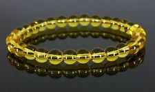 Yellow Citrine Clear Crystal Quartz  Bracelet Therapeutic Gemstone