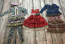 Mustard Pie Lot Size 4T Spring Fall Holiday Outfit Top Dress Bow Pants Easter 6p