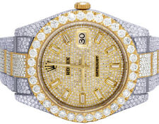 Rolex Datejust II 116333 41MM 18K/Steel Two Tone Iced Diamond Watch 29.55 Ct