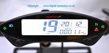 Koso EX02 Motocicleta Velocímetro Speedo, idiota Luces Sensor De Velocidad Multifunción