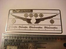 HO Scale Milwaukee Road Atlantic 4-4-2 Hiawatha Detail Stainless Etch Set
