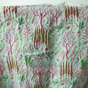 Lovely Embossed Plants Brocade Jacquard Fabric Curtain Upholstery fabric By Yard
