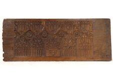 Panneau bois sculpté gothique flamboyant Haute Epoque boiserie XVIIème