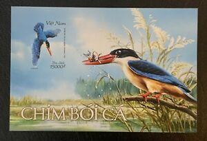 Vietnam 2020 Kingfishers Birds Souvenir Mini Sheet SEA MNH Imperforate Stamp
