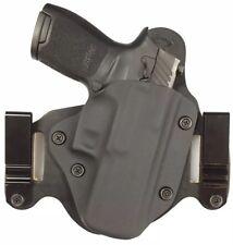 Sig P320 compact IWB/OWB Morph Hybrid Holster, Black Kydex, leather, RH