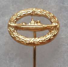Insigne boutonnière Allemagne Sous Marin U BOOT BOAT SUBMARINE PIN BADGE 16 mm