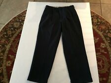 Men's DANIEL CREMIEUX Navy Blue pants ~ 34X30 ~ pleated with cuffs ~ Cotton